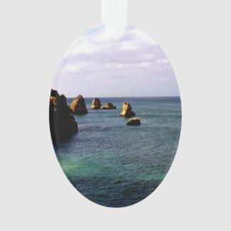 Portugal Ocean, Teal & Azure Paradise Sea Ornament