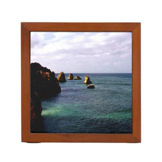 Portugal Ocean, Teal & Azure Paradise Sea Pencil/Pen Holder