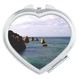 Portugal Ocean, Teal & Azure Paradise Sea Vanity Mirrors
