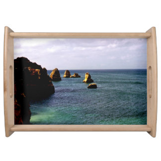 Portugal Ocean, Teal & Azure Paradise Sea Service Trays
