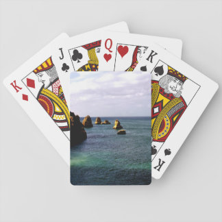 Portugal Ocean, Teal & Azure Paradise Sea Playing Cards