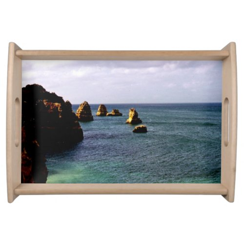 Portugal Ocean, Teal & Azure Paradise Sea Serving Tray