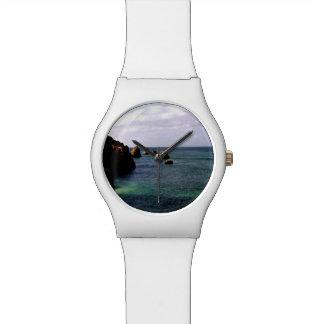 Portugal Ocean, Teal & Azure Paradise Sea Wrist Watch