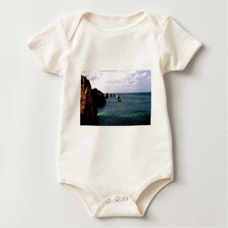 Portugal Oceanscape - Teal & Azure Paradise Baby Bodysuit