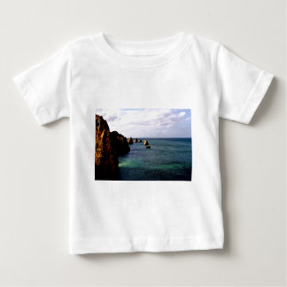 Portugal Oceanscape - Teal & Azure Paradise Baby T-Shirt