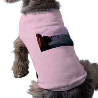 Portugal Oceanscape - Teal & Azure Paradise Dog Tshirt