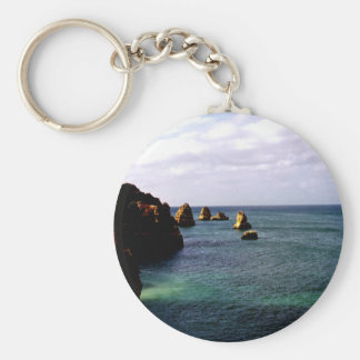 Portugal Oceanscape - Teal & Azure Paradise Keychain