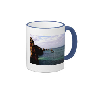 Portugal Oceanscape - Teal & Azure Paradise Coffee Mug
