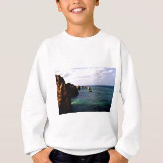 Portugal Oceanscape - Teal & Azure Paradise Sweatshirt