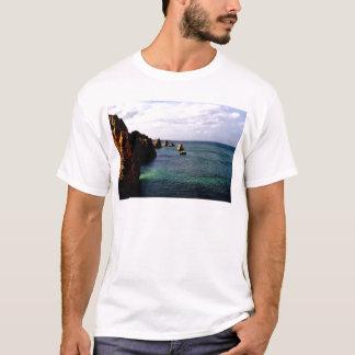 Portugal Oceanscape - Teal & Azure Paradise T-Shirt