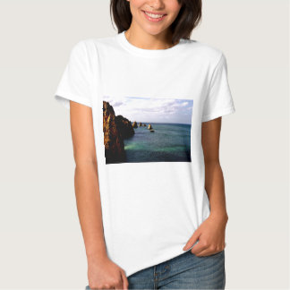 Portugal Oceanscape - Teal & Azure Paradise Tshirts