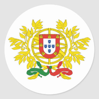 Portugal Official Coat Of Arms Heraldry Symbol Classic Round Sticker