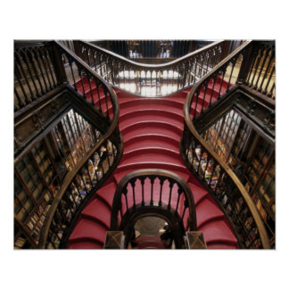 Portugal, Oporto (Oporto). Escaleras en histórico Póster