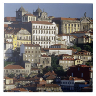 Portugal, Oporto (Porto). Historic houses and Large Square Tile
