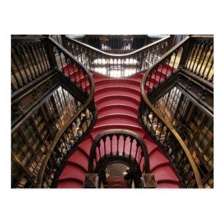 Portugal, Oporto (Porto). Stairs in historic Postcard