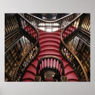 Portugal, Oporto (Porto). Stairs in historic Posters