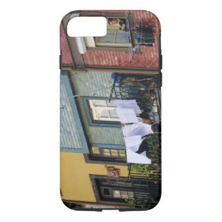 Portugal, Oporto (Porto). Woman hanging laundry iPhone 8/7 Case