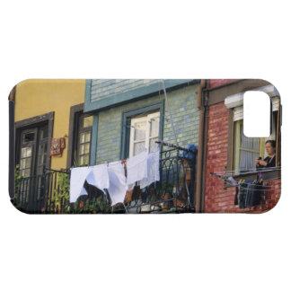 Portugal, Oporto (Porto). Woman hanging laundry iPhone SE/5/5s Case