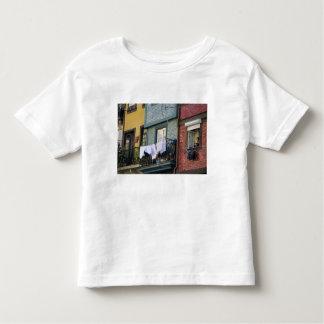Portugal, Oporto (Porto). Woman hanging laundry T Shirt