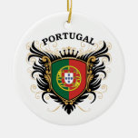 Portugal Double-Sided Ceramic Round Christmas Ornament