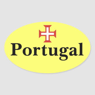 Portugal Oval Sticker with Portuguese Cross