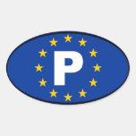 Portugal P European Union Stickers