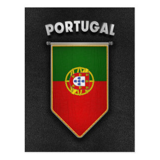 Portugal Pennant with high quality leather look Postcard