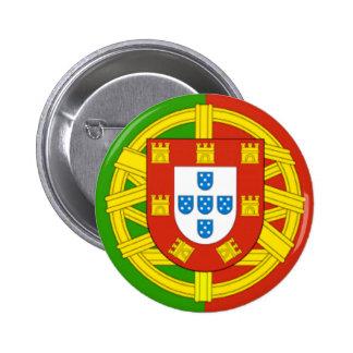 Portugal Pin Redondo De 2 Pulgadas