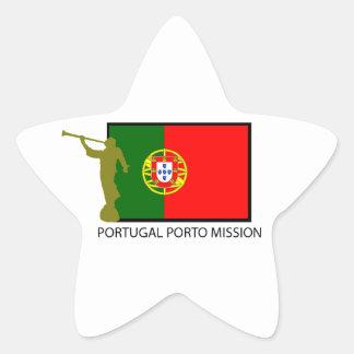 PORTUGAL PORTO MISSION LDS CTR STAR STICKER