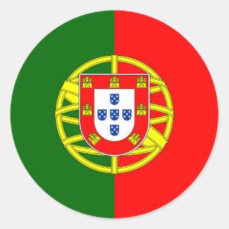 Portugal/Portuguese Flag Classic Round Sticker