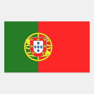 Portugal/Portuguese Flag Rectangular Sticker