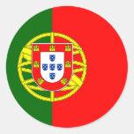 Portugal/Portuguese Flag Round Sticker