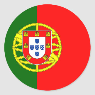 Portugal Portuguese Flag Round Sticker