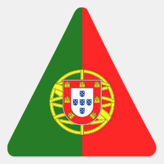 Portugal/Portuguese Flag Triangle Sticker