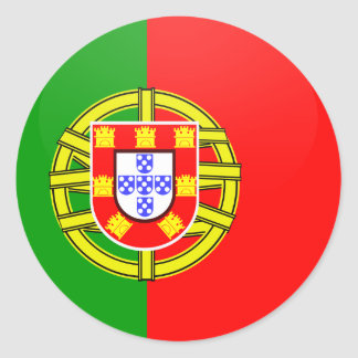 Portugal quality Flag Circle Classic Round Sticker