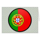 Portugal quality Flag Circle Greeting Card