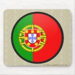 Portugal quality Flag Circle Mouse Pad
