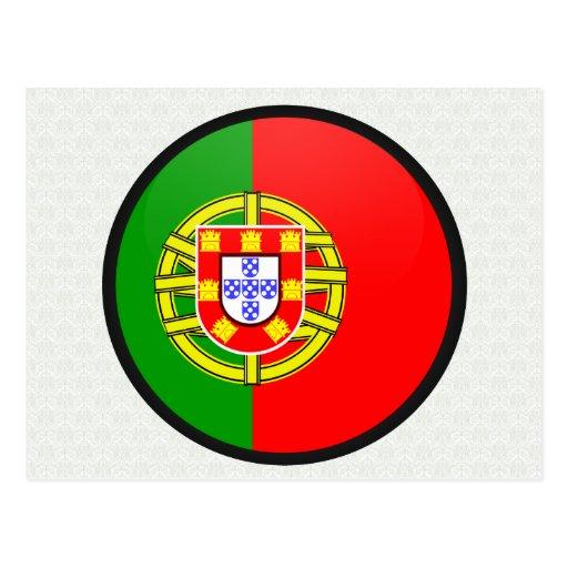 Portugal quality Flag Circle Postcard