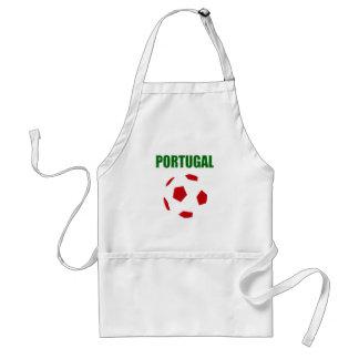 Portugal retro soccer t-shirt adult apron