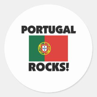 Portugal Rocks Round Sticker