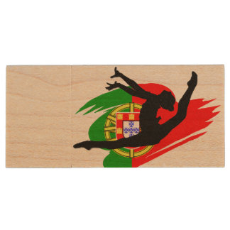 Portugal Rythmic Gymnast Wood Flash Drive