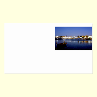 Portugal Seaside I - Sapphire & Crimson Magic Double-Sided Standard Business Cards (Pack Of 100)