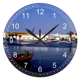 Portugal Seaside I - Sapphire & Crimson Magic Wallclocks