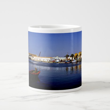 Portugal Seaside I - Sapphire & Crimson Magic Giant Coffee Mug