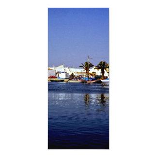 Portugal Seaside I - Sapphire & Crimson Magic 4x9.25 Paper Invitation Card