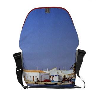 Portugal Seaside I - Sapphire & Crimson Magic Courier Bag