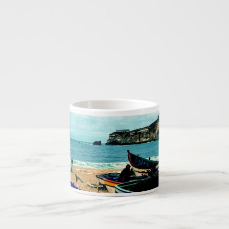 Portugal Seaside IV - Colorful Boats on the Beach Espresso Cup