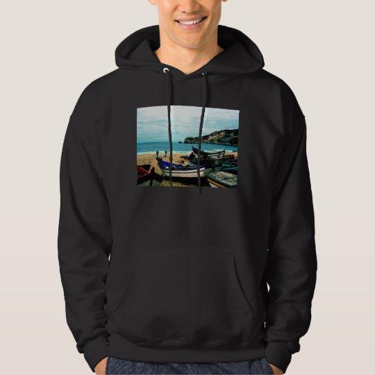 Portugal Seaside IV - Colorful Boats on the Beach Hoodie