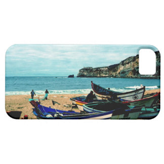 Portugal Seaside IV - Colorful Boats on the Beach iPhone SE/5/5s Case