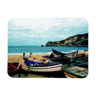 Portugal Seaside IV - Colorful Boats on the Beach Magnet
